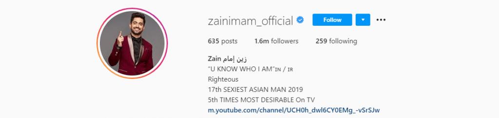 Zain-imam-instagram-account