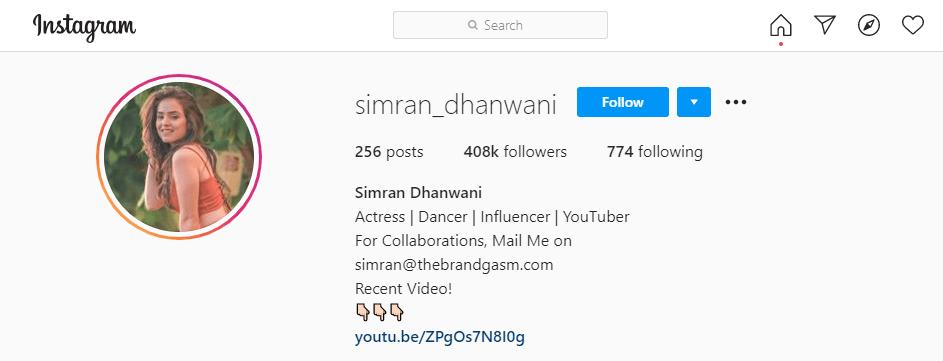 Simran-Dhanwani-Instagram